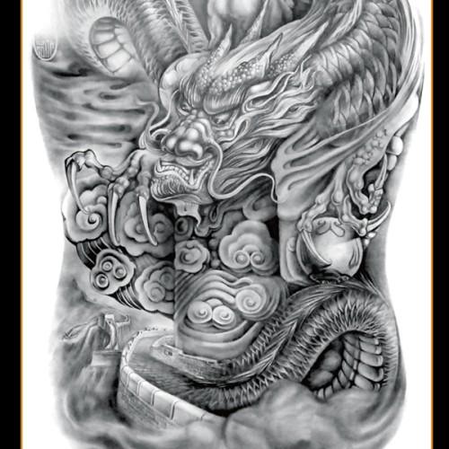 Foto Produk Tato/Tatto temporary/Tatto punggung/ 36x48 cm MB005 dari Creativetatto