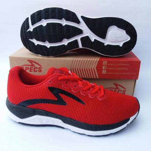 Foto Produk sepatu running specs dual enduro true red/black/white art.200505 - Merah, 39 dari bumi sport