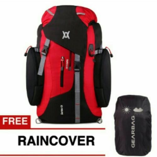 Foto Produk tas rangsel gunung/haiking/camping 65LT red dari gudang tas 1000