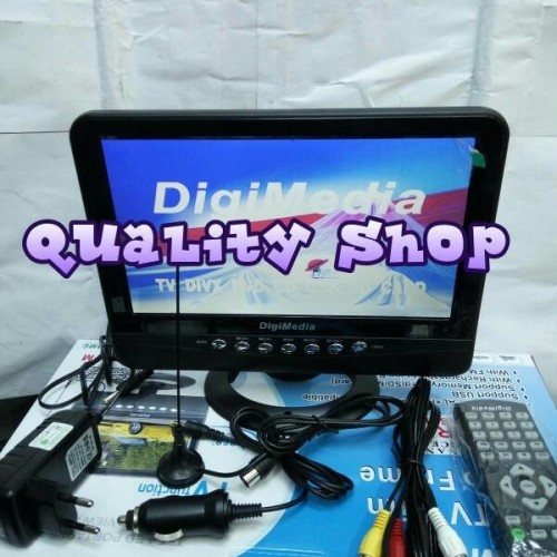 Foto Produk (Diskon) TV LED DIGIMEDIA 9,5 inch usb movie plus baterai charger dari kiki markete