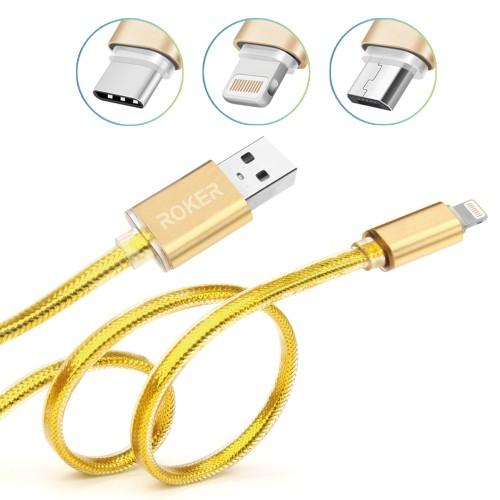Foto Produk Kabel Elegant Metal Type c - gold dari Roker Official Store