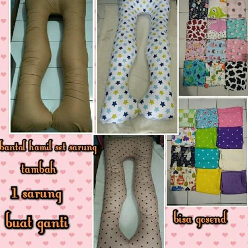 Foto Produk Bantal hamil set sarung tambah sarung 1 buat ganti dari toko basidoa