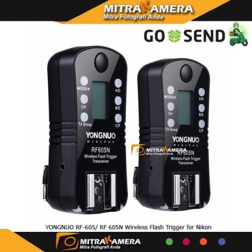 Foto Produk YONGNUO RF-605/ RF 605N Wireless Flash Trigger for Nikon dari mitrakamera