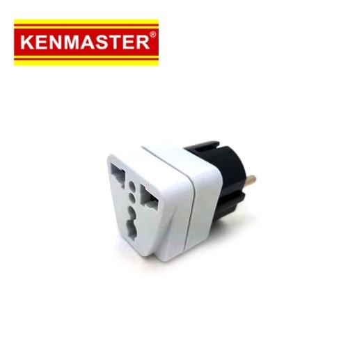 Foto Produk Kenmaster XX-407A WA9 Steker Colokan Converter Kaki 3 Ke 2 Travel dari Palugada Distribusi