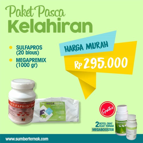 Foto Produk Paket Pasca Kelahiran ( SULFAPROS BOLUS-MEGAPREMIX ) dari Distributor Peternakan