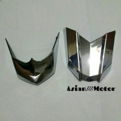 Foto Produk Garnish Spakbor Depan Dan Belakang Vario 125 150 Led - Chrome dari Asian  Motor