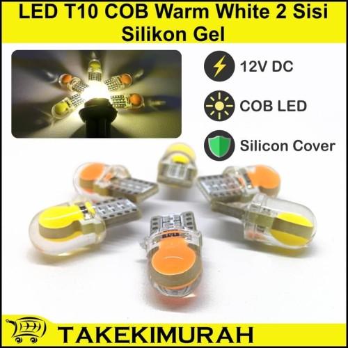 Foto Produk LED T10 COB Warm White 2 Sisi Silikon Gel dari Takekimurah