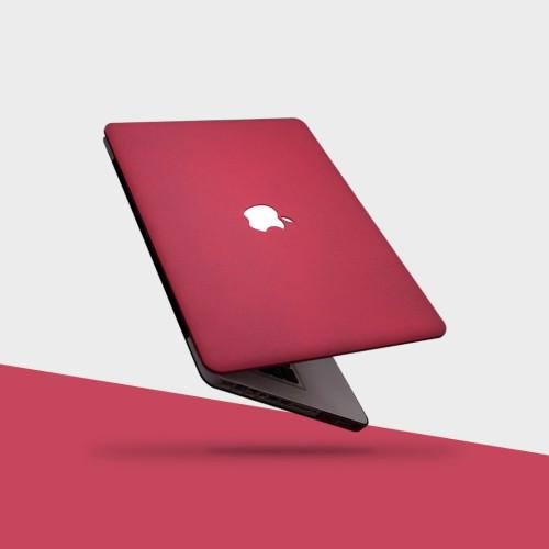 Foto Produk Macbook Case Red Wine MAROON NEW AIR PRO RETINA 11 13 15 Non/ Touchbar dari RajAppleCom