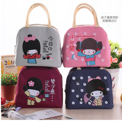 Foto Produk tas bekal kanvas Japanese small girl lunch bag bta153 - pink dari Oila