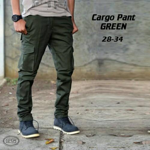 Foto Produk CELANA PDL PANJANG HIJAU ARMY / KARGO PANJANG / OUTDOOR dari d&y fashion