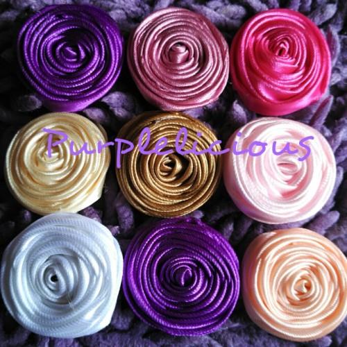 Foto Produk Aplikasi mawar bulat dari TokoUngu_NH Boutique