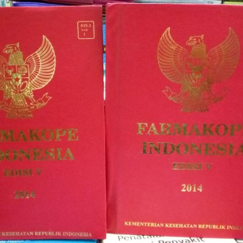 Foto Produk Farmakope Indonesia Edisi 5 Tahun 2014 Buku 1 Dan 2 dari Singkuan Pustaka