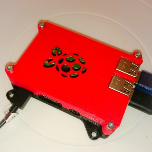 Foto Produk Raspberry Pi Case 2 / Raspberry Pi Case 3 Custom Logo dari BIKIN3D