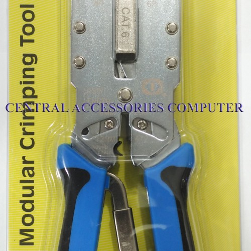 Foto Produk TANG CRIMPING (CRIMPING TOOL) RJ45 CAT 6 DAN RJ11 TALON TL-2810R dari Central Accessories Comp