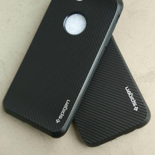 Foto Produk Case iPhone 7/7 Plus +/6/6s/5/5s Slim Carbon 1 Casing Black [Premium!] dari KortingStore