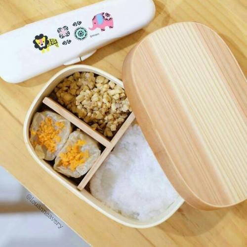 Foto Produk UCHII Wooden Bento Lunch Box - Japanese Style / Kotak Bekal Makan Kayu dari uchii store