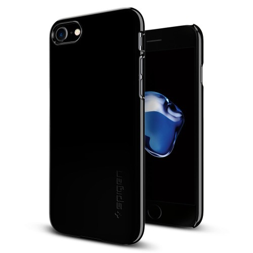 Foto Produk Spigen iPhone 7 Case Thin Fit Cover Casing Slim Original - Jet Black dari SilverAksesoris