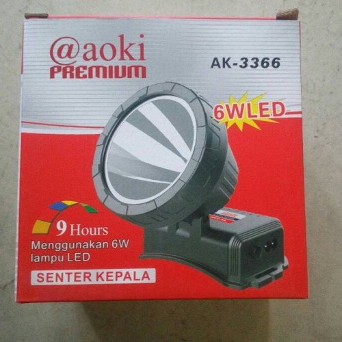 Foto Produk Senter Kepala Charger AOKI-AK3366 / Senter Kepala Cas dari khalisah grosir