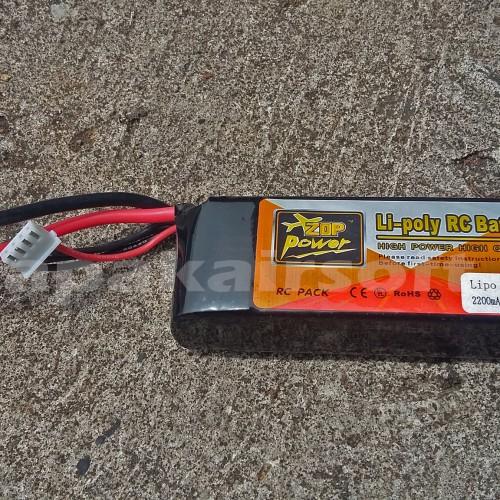 Foto Produk Baterai Airsoftgun/Batrei RC/Batre kotak Zop Power 2200mAh 11.1V 20C dari Lapakairsoft