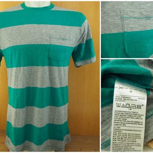 Foto Produk Kaos Gap Stripe Pocket T Shirt Original - Tosca Grey dari Serba Original
