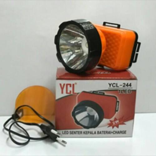 Foto Produk Senter Kepala / Headlamp AC DC 2 Watt (Charger dan Baterai) dari Pooh Shop Grosir