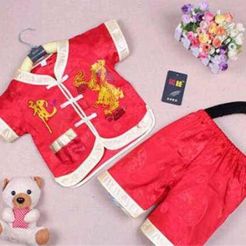 Foto Produk Cheongsam Dragon / Setelan Baju Cina Anak Cowo Limited dari Brenda S. Rutt Store
