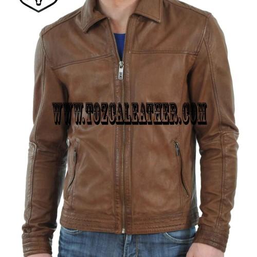 Foto Produk jual jaket kulit asli keren JP745 dari alphaleather