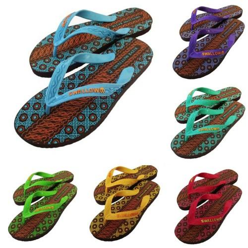 Foto Produk GROSIR Sandal / Sendal Jepit Pria Swallow Motif Batik / Sendal Pantai dari 89stories