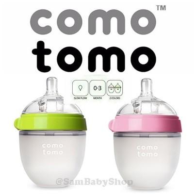 Foto Produk Comotomo SInlge 150 ( Green / Pink ) Como Tomo Baby Bottle - Merah Muda dari Sam Baby Shop