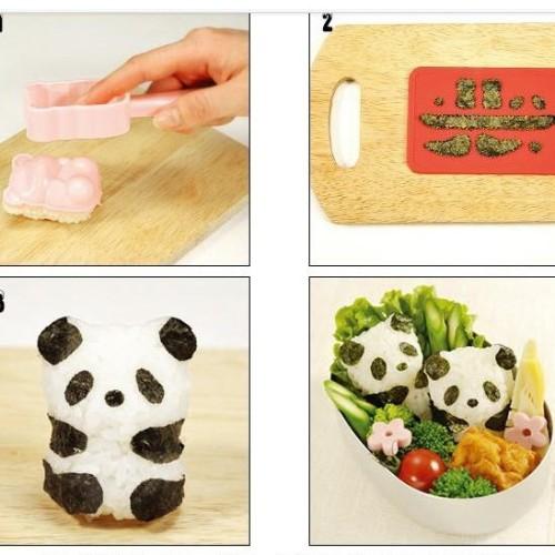 Foto Produk SALE ! Bento Rice Mold Panda with Seaweed Nori Cutter murah dari gamaneca20