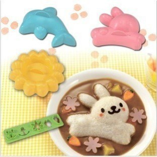 Foto Produk SALE ! Rice Mold 4in1 (Rabbit, Dolphin, Flower, Expression) murah dari gamaneca20