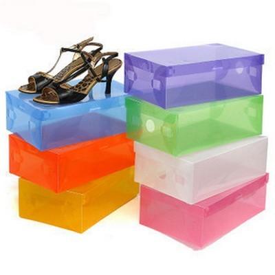 Foto Produk SALE ! Transparent Shoes Box / Kotak Rak Sepatu Transparan murah dari gamaneca20