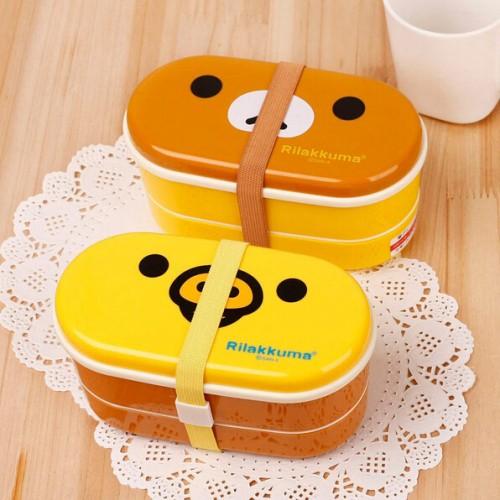 Foto Produk SALE ! Lunch Box Rilakkuma 2 Susun / Japanese Sushi Box murah dari gamaneca20