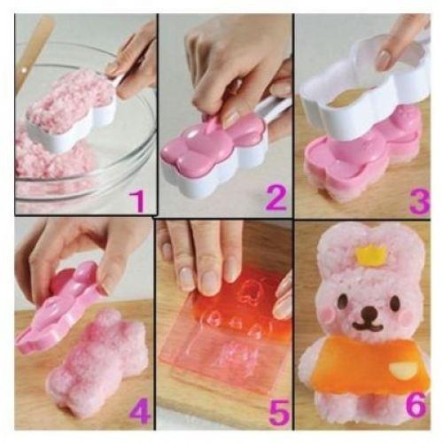 Foto Produk SALE ! Rice Mold - Set Bear Rabbit Arnest with Cutters murah dari gamaneca20
