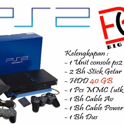 Foto Produk Sony Playstation 2 / PS2FAT / PS 2 Hdd 40Gb - Full Games Lengkap Murah - 40GB dari Hendri Elektronik