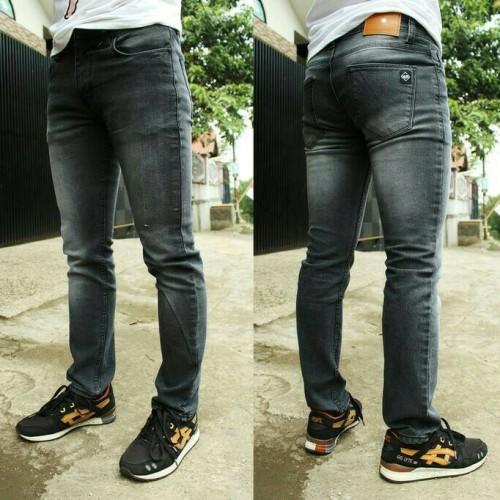Foto Produk celana jeans dark grey wash slimfit pria dari oxo shop