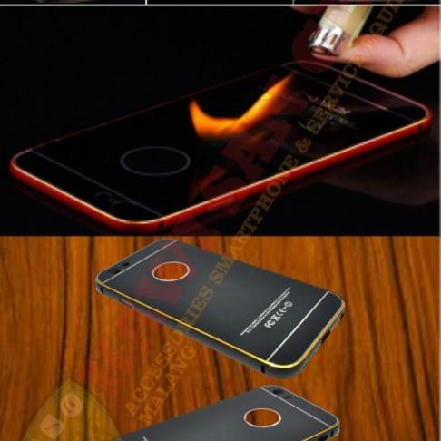 Foto Produk Aluminium Tempered Glass Hard Case for iPhone 6/6S - Malang - Gold-Gold dari Kawi San Cell