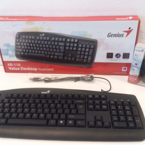 Foto Produk Keyboard KB-110 + Mouse GENIUS USB dari Surabaya Pusat Aksesoris
