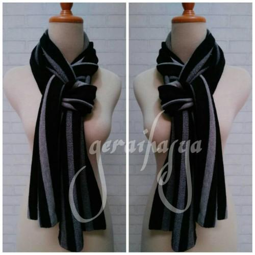 Foto Produk syal scarf shawl abu hitam u pria wanita #172 dari Gerai Hasya