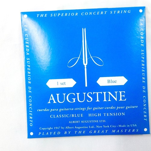 Foto Produk Senar Gitar Nylon Albert Augustine Blue Ori Regular/High Tension dari CBM Music & Sound Store