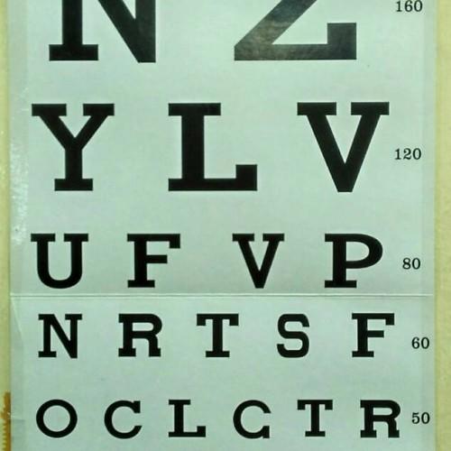 Foto Produk Snellen chart / Kertas Untuk Tes Mata Rabun dari Sumber lestari