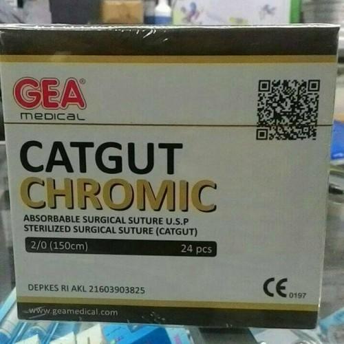 Foto Produk Catgut Chromic 2/0 GEA Tanpa Jarum dari AGNES MEDIKA