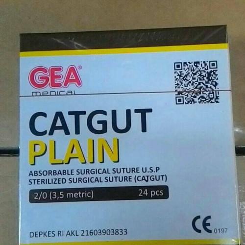 Foto Produk Catgut Plain 2/0 GEA Plus Jarum dari AGNES MEDIKA