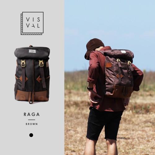 Foto Produk Tas Visval Raga Brown Series / Tas Laptop Backpack dari BAGGEN