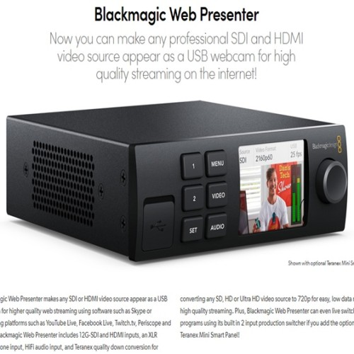 Foto Produk Blackmagic Web Presenter - alat live streaming dari ADM tekno