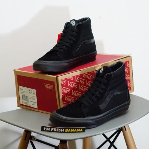 Foto Produk Sepatu Vans Sk8 SK 8 Hi Full All Black Black HIgh DT Premium Hitam dari Fresh Banana