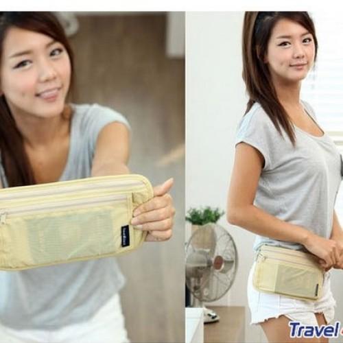 Foto Produk Tas pinggang anti maling traveling dompet belanja Travel wallet bag Ok dari BEST SHOP GROSIR