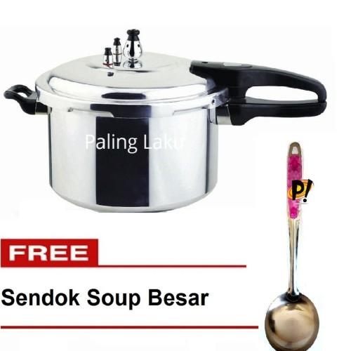 Foto Produk Panci Presto Trisonic Preasure Cooker - 8 L + FREE Sendok Soup Crystal dari Cellis Houseware