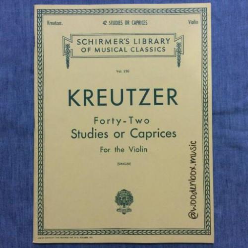 Foto Produk Kreutzer 42 Studies or Caprices Violin Schirmer Hal Leonard Biola dari WoodenBox