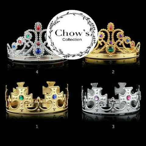 Foto Produk Mahkota Pesta Raja / Ratu, Crown Party King / Queen ( Gold & Silver ) dari Chowping Store